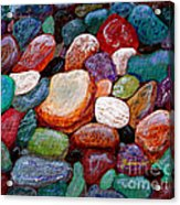 Gemstones Acrylic Print by Barbara Griffin
