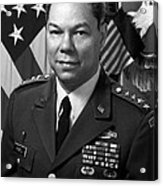 General Colin Powell Acrylic Print by War Is Hell Store