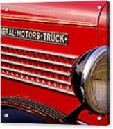 General Motors Truck Acrylic Print by Thomas Young