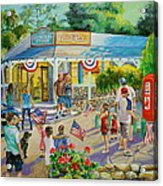 General Store After July 4th Parade Acrylic Print by Jan Mecklenburg