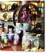 General Store With Candy Jars Acrylic Print by Susan Savad