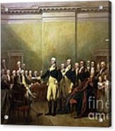 General Washington Resigning His Commission Acrylic Print by Pg Reproductions