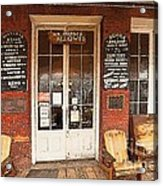Genoa Saloon Oldest Saloon In Nevada Acrylic Print by Artist and Photographer Laura Wrede