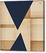 Geometry Indigo Number 2 Acrylic Print by Carol Leigh