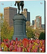 George Washington At The Boston Public Garden Acrylic Print by Juergen Roth
