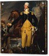 George Washington Before The Battle Of Trenton Acrylic Print by John Trumbull