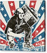 George Washington - Boombox Acrylic Print by Pixel Chimp