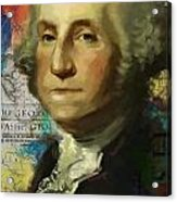George Washington Acrylic Print by Corporate Art Task Force