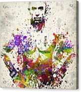 Georges St-pierre Acrylic Print by Aged Pixel