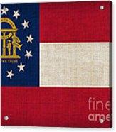 Georgia State Flag Acrylic Print by Pixel Chimp