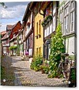 German Old Village Quedlinburg Acrylic Print by Heiko Koehrer-Wagner