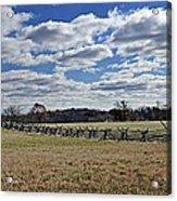 Gettysburg Battlefield - Pennsylvania Acrylic Print by Brendan Reals