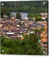 Ghanaian Village Acrylic Print by Samuel Whitton