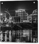 Ghost Of East Bank Reflecting In Water Acrylic Print by Robert Hebert