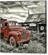 Ghost Town Truck Acrylic Print by Robert Jensen