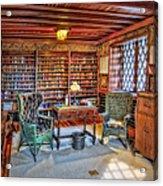 Gillette Castle Library Acrylic Print by Susan Candelario
