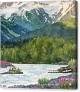 Glacier Creek Summer Evening Acrylic Print by Sharon Freeman