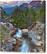 Glaciers Wild Acrylic Print by Darren  White