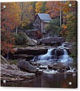 Glade Creek Grist Mill In Autumn Acrylic Print by Jetson Nguyen