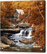 Glade Creek Mill Selective Focus Acrylic Print by Tom Mc Nemar