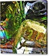 Glass Abstract 119 Acrylic Print by Sarah Loft