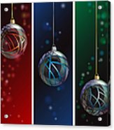 Glass Bauble Banners Acrylic Print by Jane Rix