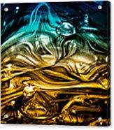 Glass Macro Abstract Rbwce Acrylic Print by David Patterson
