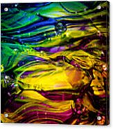 Glass Macro Abstract Rcy1 Acrylic Print by David Patterson