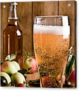 Glass Of Cyder Acrylic Print by Amanda And Christopher Elwell