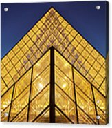 Glass Pyramid Acrylic Print by Brian Jannsen