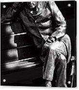Glenn Gould Acrylic Print by Andrew Fare
