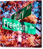 Glory Signs Acrylic Print by Sonja Quintero