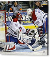 Glove Save In Traffic Acrylic Print by Don Olea