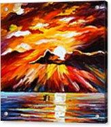 Glowing Sun Acrylic Print by Leonid Afremov