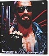 God's Terminator Acrylic Print by Jessie J De La Portillo