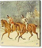 Going Out In A Snowstorm Acrylic Print by Henry Thomas Alken