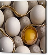 Gold And Eggs Acrylic Print by J L Woody Wooden