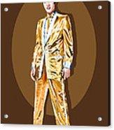 Gold Lamee Elvis Acrylic Print by Jarod