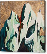 Gold Mountain Acrylic Print by Joseph Demaree