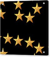 Gold Stars Abstract Triptych Part 3 Acrylic Print by Rose Santuci-Sofranko