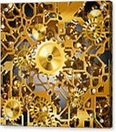 Gold Time.  Acrylic Print by Tautvydas Davainis