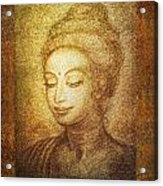 Golden Buddha Acrylic Print by Ananda Vdovic