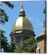 Golden Dome Notre Dame Acrylic Print by Connie Dye