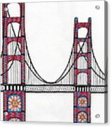Golden Gate Bridge By Flower Child Acrylic Print by Michael Friend