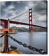 Golden Gate Bridge Acrylic Print by Eduard Moldoveanu