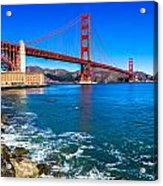 Golden Gate Bridge San Francisco Bay Acrylic Print by Scott McGuire