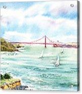 Golden Gate Bridge View From Point Bonita Acrylic Print by Irina Sztukowski