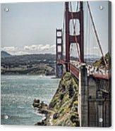 Golden Gate Acrylic Print by Heather Applegate