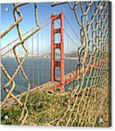 Golden Gate Through The Fence Acrylic Print by Scott Norris