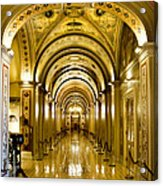Golden Government Acrylic Print by Greg Fortier